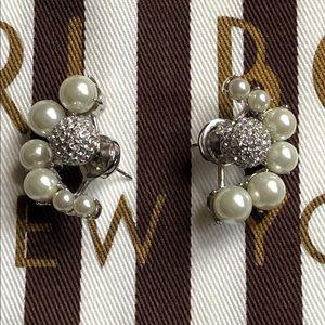 Henri Bendel Nikita Pearl Ear Jacket Earrings